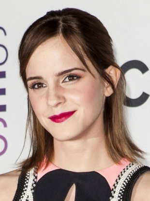 Emma Watson Hairstyle at 2013 Peoples Choice Awards