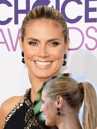 Heidi Klum Hairstyle at 2013 Peoples Choice Awards