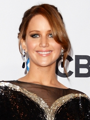 Jennifer Layrence Hairstyle 2013 Peoples Choice Awards