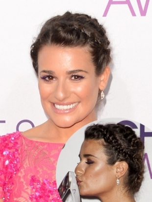 Lea Michele Hairstyle at 2013 Peoples Choice Awards