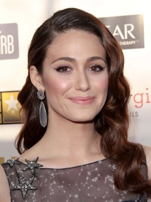 Emmy Rossum Hairstyle at 2013 Critics Choice Awards