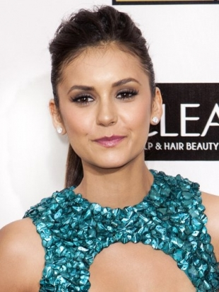 Nina Dobrev Hairstyle at 2013 Critics Choice Awards