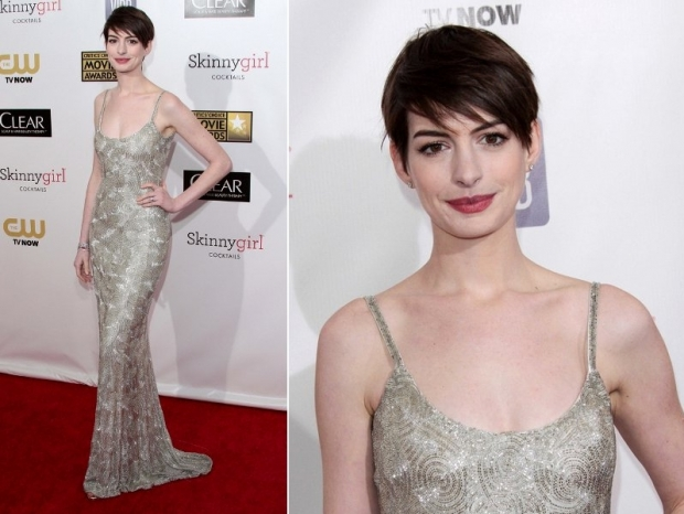 Anne Hathaway Dress 2013 Critics Choice Awards