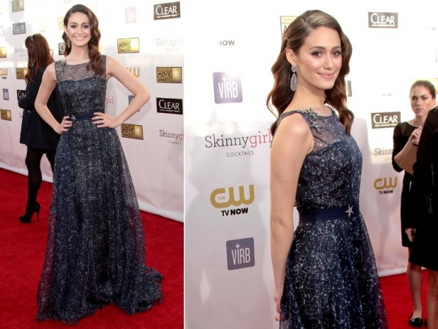 Emmy Rossum Vestido 2023 Critics Choice Awards
