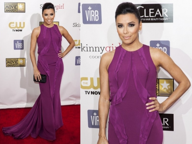 Eva Longoria Dress 2013 Critics Choice Awards
