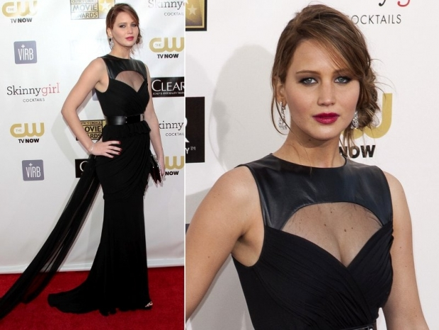 Jennifer Lawrence Dress 2013 Critics Choice Awards