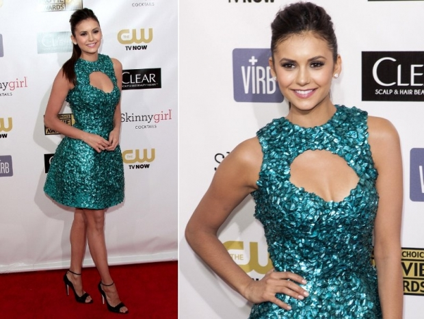 Nina Dobrev Dress at 2013 Critics Choice Awards