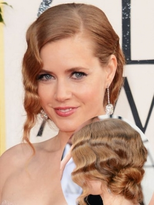 Amy Adams Updo Hairstyle 2013 Golden Globes