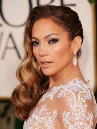 Jennifer Lopez Hairstyle at 2013 Golden Globe Awards