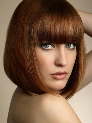 Pageboy Bob Hairstyle with Bangs
