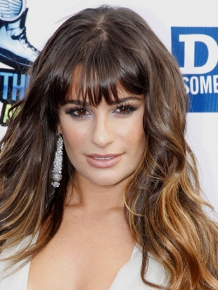Celebrity Wispy Bangs Hairstyles
