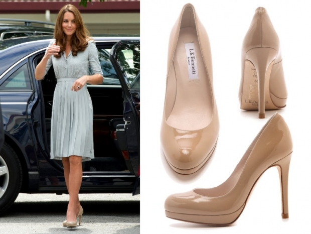 Kate Middleton Nude High Heel Pumps