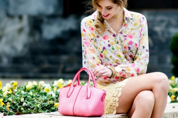 Blogger Chiara Ferragni for Tods Touch Accessories
