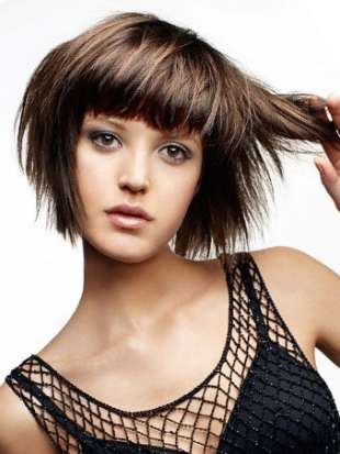 Medium Haircuts with Bangs for Face Shape and Hair Type