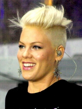 Pink Blonde Mohawk Haircut