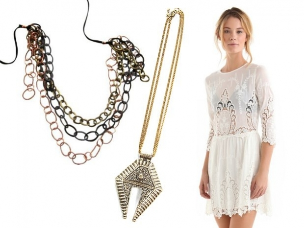 Little White Dresses with Long Chains