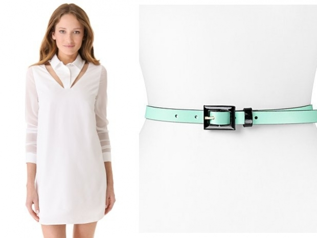 Little White Dress with Cool Turquoise