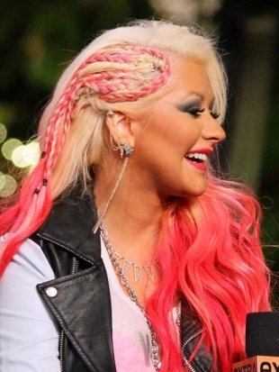 Christina Aguilera Braid Faux Undercut