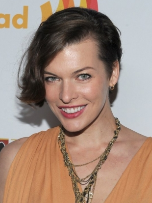Milla Jovovich Undercut Hair with Bob