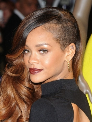 Rihanna Undercut with Long Hair