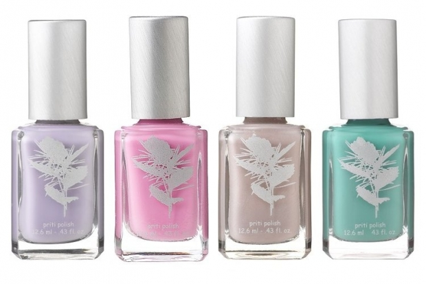 And since the last thing you want to worry about on your wedding day are nasty chemicals, the new Priti NYC Bridal Bouquet 2013 nail polishes are the ideal choice. The label prides itself on eliminating nasty chemicals from nail polishes so that every fashionista can enjoy the pampering process worry free. Instead of making the 3-free blanket statement, the brand lists the ingredients used to make the nail polishes, explaining the role each compound in creating the fab nail polishes offered by the label. Whether you