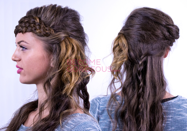 Katniss Everdeen Braided Updo Hairstyle