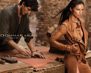 Brazilian beauty Adriana Lima returns for a new Donna Karan campaign. Have a look at the luxury label's coolest options for spring/summer 2014.