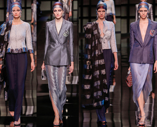 "Titled ""Nomade"", the new Armani Prive spring 2014 couture collection brought an interesting assortment of gorgeous ensembles inspired by a variety of cultures."