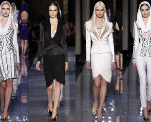 Take a look at the sexiest Atelier Versace couture 2014 ensembles presented during the Paris Haute-Couture Spring 2014 Fashion Week.