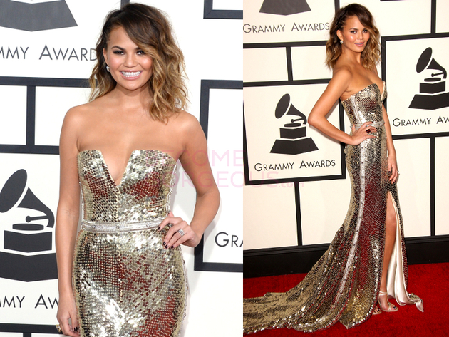 Chrissy Teigen Grammys 2014 Dress