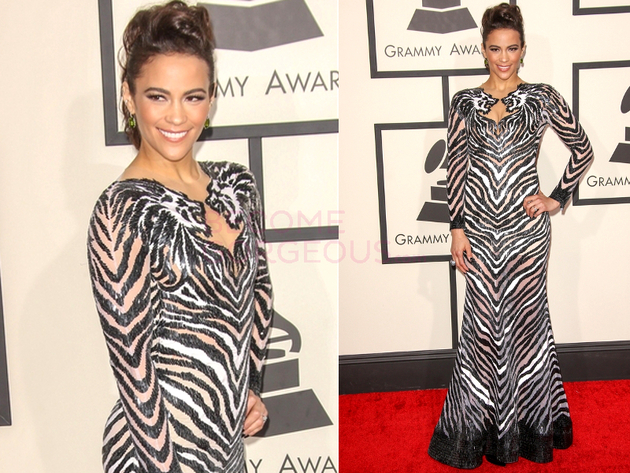 Paula Patton Grammys 2014 Dress