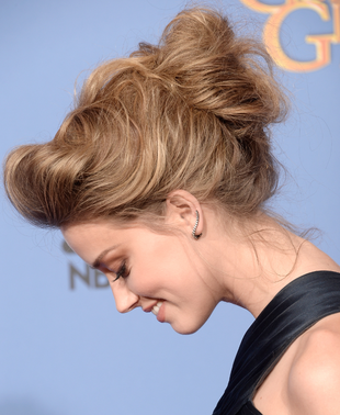 Amber Heard 2014 Golden Globes Hair