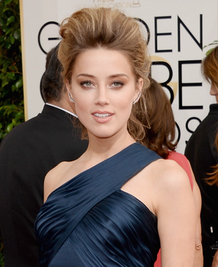 Amber Heard 2014 Golden Globes Makeup