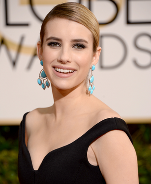 Emma Roberts 2014 Golden Globes Hair And Makeup