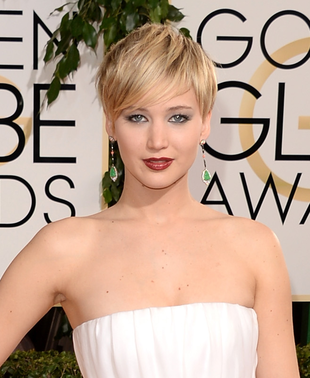Jennifer Lawrence 2014 Golden Globes Makeup