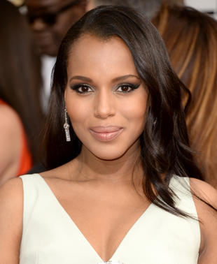 Kerry Washington 2014 Golden Globes Hair And Makeup