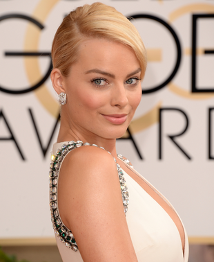 Margot Robbie 2014 Golden Globes Makeup