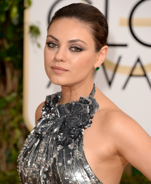 Mila Kunis 2014 Golden Globes Makeup
