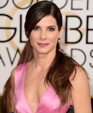 Sandra Bullock 2014 Golden Globes Hair And Makeup