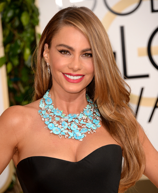 Sofia Vergara 2014 Golden Globes Hair And Makeup