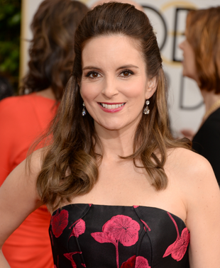 Tina Fey 2014 Golden Globes Hair And Makeup