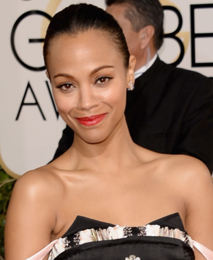 Zoe Saldana 2014 Golden Globes Makeup