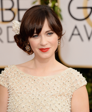 Zooey Deschanel 2014 Golden Globes Makeup