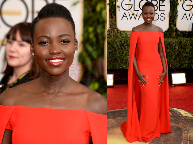 Lupita Nyongo 2014 Golden Globes Dress