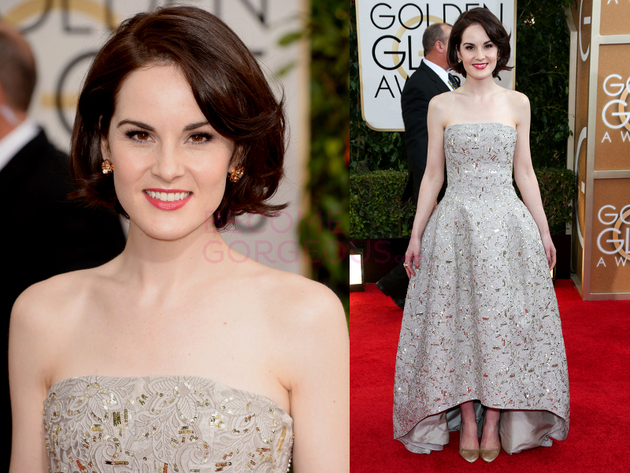 Michelle Dockery 2014 Golden Globes Dress