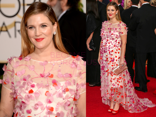 Drew Barrymore 2014 Golden Globes Dress