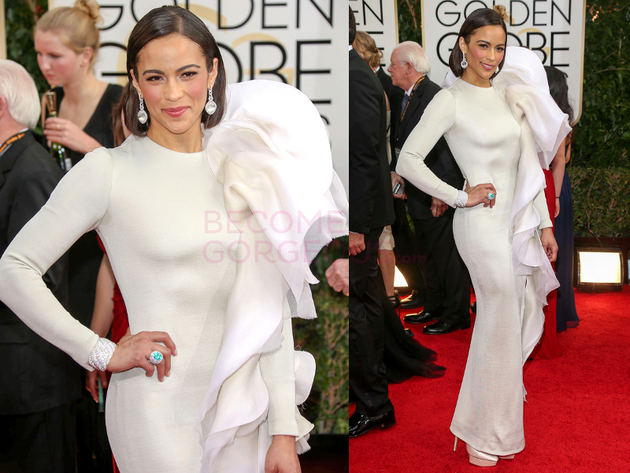 Paula Patton 2014 Golden Globes Dress