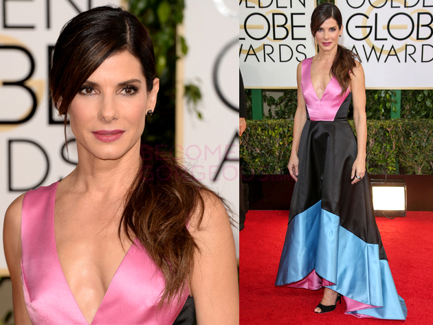 Sandra Bullock 2014 Golden Globes Dress