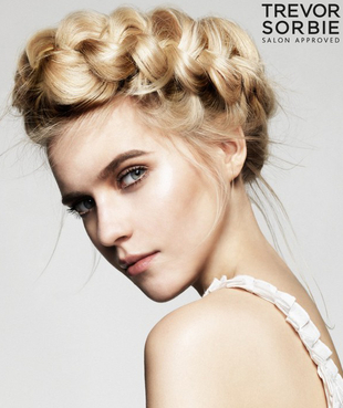 Messy Crown Braid By Trevor Sorbie
