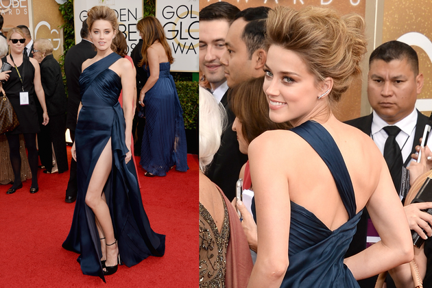 Amber Heard 2014 Golden Globe Awards